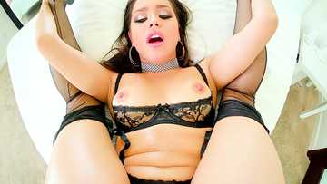 Long-Tongue Latina Alina Lopez BJ, Creampie