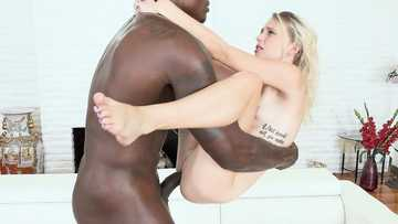 Elegant cutie Kate Bloom gets blacked hard by strong fucker Louie Smalls