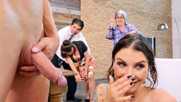 Naughty MILF Ivy Lebelle gives sleeping pills to parents and has crazy sex with BF